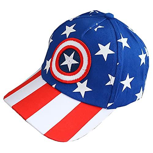 PRETAY Sombrero de béisbol, diseño de Spider Man,para niños, niños y niñas,Sombrero de béisbol Caps Captain America,Iron Man, Black Panther (Color : Blue, Size : S(50~54CM))