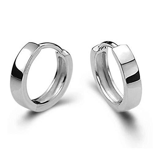 Pendientes de plata lisos para hombres y mujeres, para mujeres, pendientes de joyería