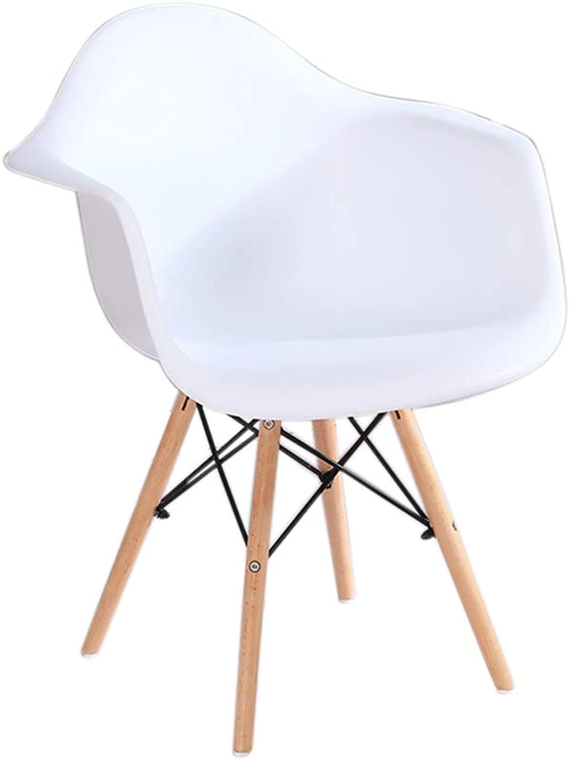 Chair - Modern Minimalist Home Decoration Plastic Armchair Small Chair (color   White, Size   41  66cm)