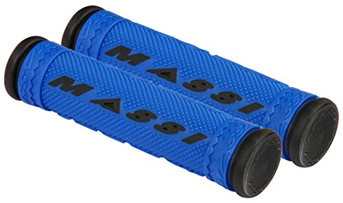 Massi Puños de Bicicleta, Unisex Adulto, Azul/Negro, 125mm
