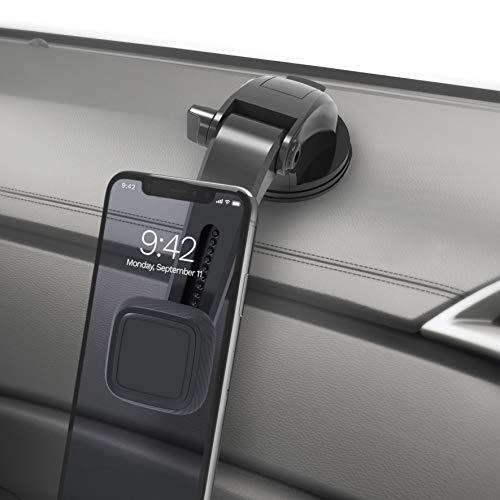 IZUKU Support Voiture Magnétique avec Rotation 360°,Magnétique Puissant, Support Telephone Voiture Ventouse pour la Plupart des Smartphones et GPS