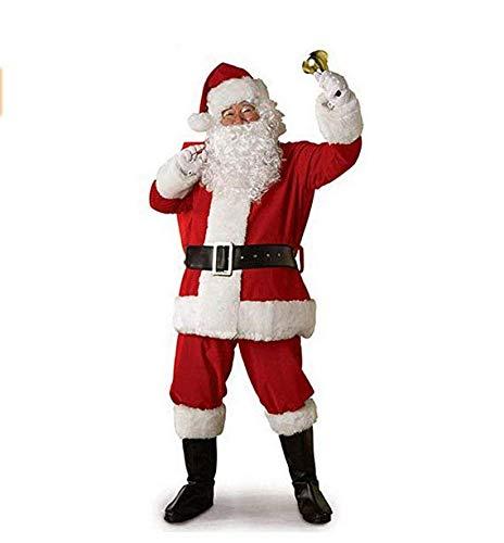 Hailouhai Traje de Navidad Traje de Traje Unisex de Santa