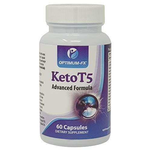 Keto T5 Verbesserte Unterstützung für Ketogene Ernährung – Fettverbrenner – Pre-Workout Energiegeber – Energie-Booster – Gewichtsverlust Schlankheitspillen – Fett Verbrennen - 60 Vegane Kapseln