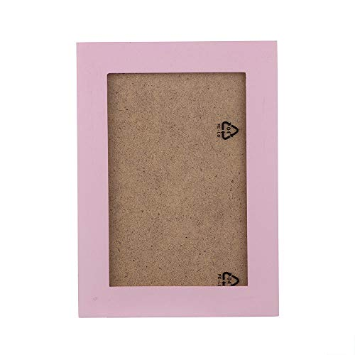 jieGorge Home Decor, Home Decor Wooden Picture Frame Wall Mounted Hanging Photo Frame, for Christmas Day (Pink)