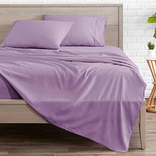 Bare Home Queen Sheet Set - 1800 Ultra-Soft Microfiber Bed Sheets - Double Brushed Breathable Bedding - Hypoallergenic – Wrinkle Resistant - Deep Pocket (Queen, Lavender)