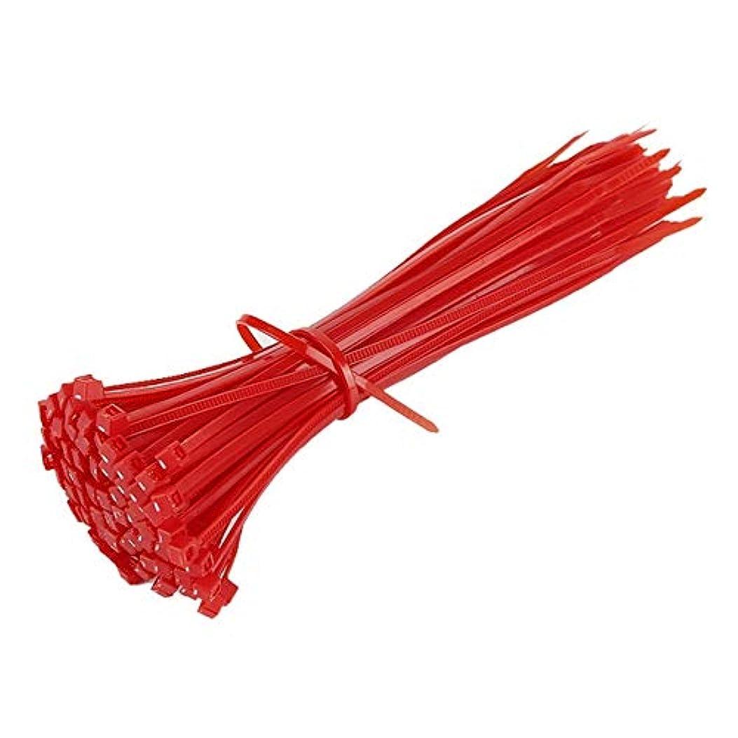 砲撃利益カエルタグジップタイ 100PCS 150ミリメートルセルフロックナイロンケーブルタイプラスチックタイワイヤーラップストラップUL認定ファスナーハードウェアケーブル結合ジップ LKYJP (Color : 04, Size : フリー)