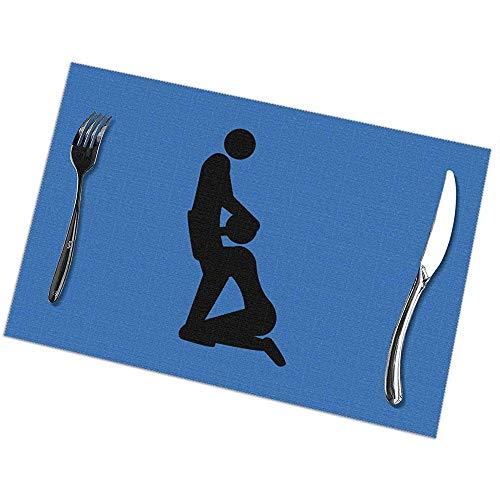 Alvahw Blowjob Sex Tischsets für Esstisch 6er-Set Küchentischsets 12 x 18 Zoll