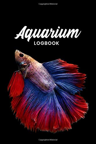 Aquarium Fish Tank Fishkeeping Log Book Journal Notebook Diary Planner - Red & Blue: Aquaristics Record with 120 Pages In 6' x 9' Inch - Gift Idea for Zoologists & Marine biologists