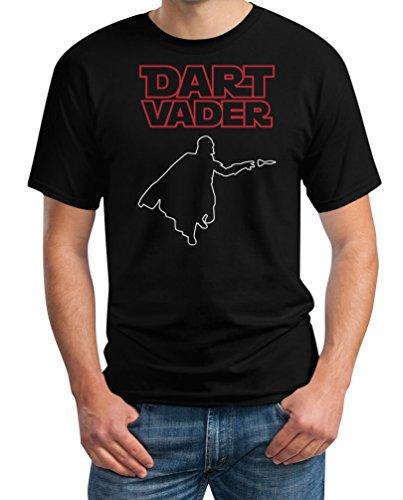 Dart Vader - Witziges Herren Dart Shirt für Darts Fans T-Shirt Medium Schwarz
