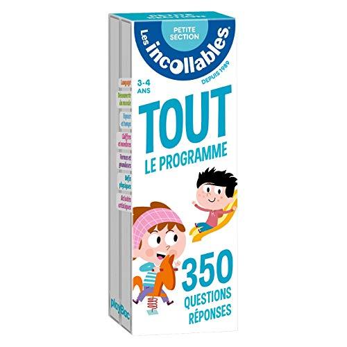 Les incollables - Tout le programme de la petite section - 3/4 ans: 350 questions réponses pour réviser en 2 éventails- Cahier de vacances