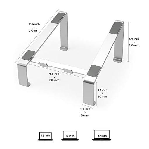 Soporte Portatil, Soporte Ordenador Portatil Elevador Portatil Mesa Gaming Laptop Stand, Compatible con Macbook Pro Air… 2