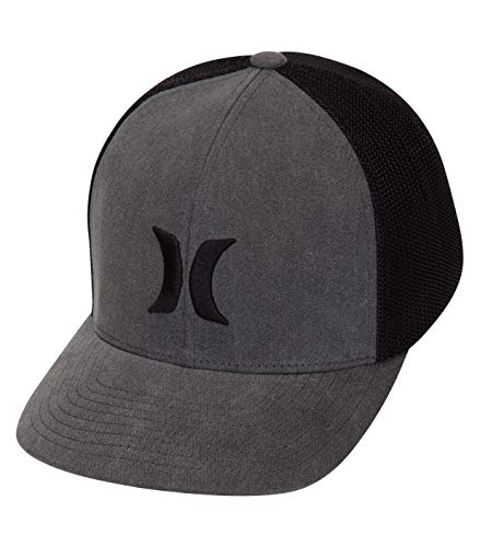 Hurley M Icon Textures Hat Gorra, Hombre, Light Carbon, S/M