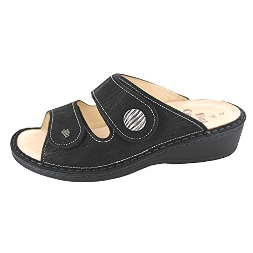 FinnComfort Damen Pantoletten Panay-S 82540-589099 schwarz 432557