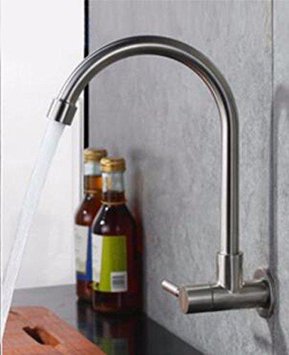 Hlluya Professional Sink De Keuken balkon afwas in een bad kraan,304 roestvrij stalen kraan, geborsteld van de inklapbare douchecabine, toren in de muur gemonteerd enkele koud water kranen