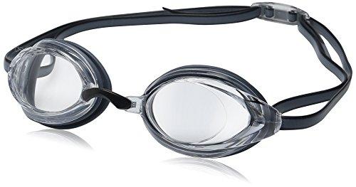 Speedo Vanquisher 2.0 Gafas de natación Unisex Talla única - Gafas de natación (Unisex, Talla única, Gris, Transparente, Negro/Gris, Silicona)