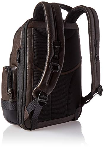 TUMI - Alpha Bravo Nathan Leather Laptop Backpack - 15 Inch Computer Bag for Men and Women - Dark Brown