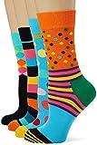 Happy Socks Classics Gift Box Calze, Multicolore (Multicolour 630), 4/7 (Taglia Unica: 36-40) (Pacco da 4) Donna