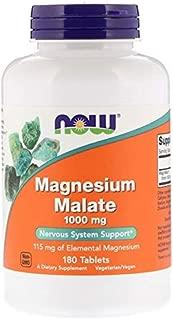 Now Foods | Malato de Magnesio (magensium malate) | 1.000 mg | 180 comprimidos veganos | sin gluten y soja