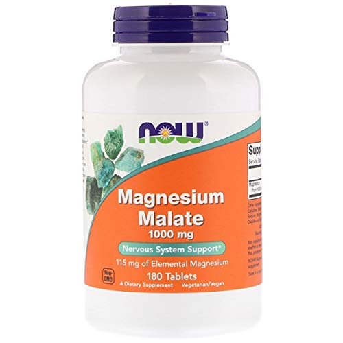 Now Foods Magnesium Malate, 1.000 mg, 180 Tabletten, sojafrei, glutenfrei, 300 g