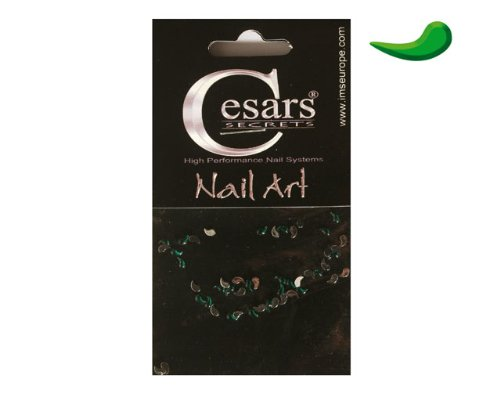 Cesars Nail Art Curve Tear Drops vert