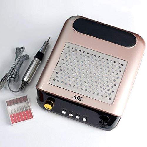 Electric Nail Boor File Machine Pedicure Kit Strong Nail stofafzuiging Extractor Cleaner Gel Acryl Nail Verwijdering (25000RPM) (Color : Gold)