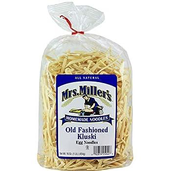 Mrs Miller s Homemade Old Fashioned Egg Noodles Kluski 16 OZ  Pack of 1