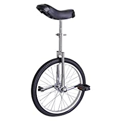 "Excellent Manganese Steel, Standard Frame of Unicycle Weight limit: 143Lbs, fits to applicable height from 57"" to 69"" Rational designed according to somatology and movement features Large Saddle with Removable Poly-nylon Guarded Rails Great for both ..."