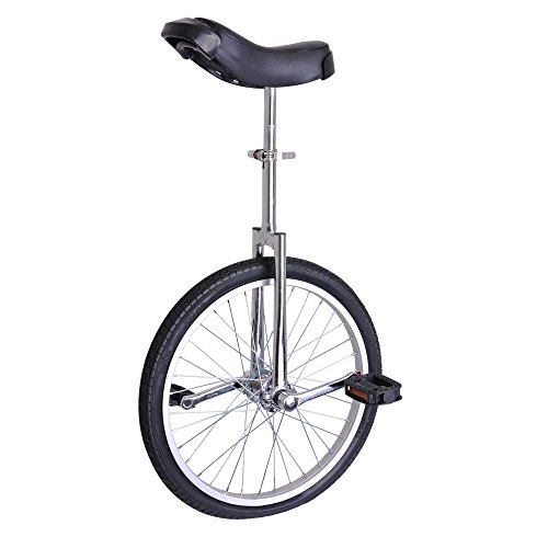 Fantastic Deal! ZeHuoGe Silver 20 Unicycle Excellent Manganese Steel Frame Leakage Protection Mute ...