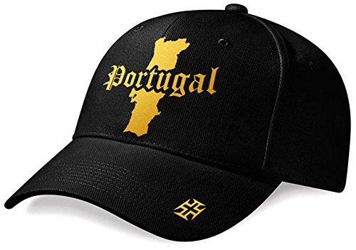 DASHOP Casquette Portugal Mini Pays Noir et Or Métallisé