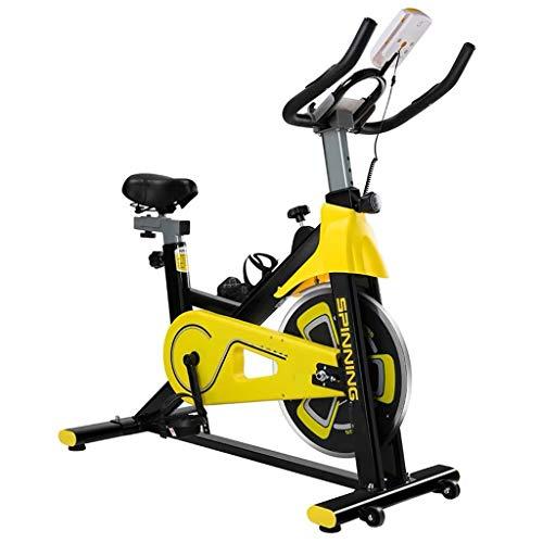 GZ Ciclismo Indoor Bike, Bicicletas Silencio Ejercicio, Bicicletas de Spinning, Cardio Fitness Equipment con Volante-Wrapped Completa del Ritmo cardíaco Reloj Digital de Prueba
