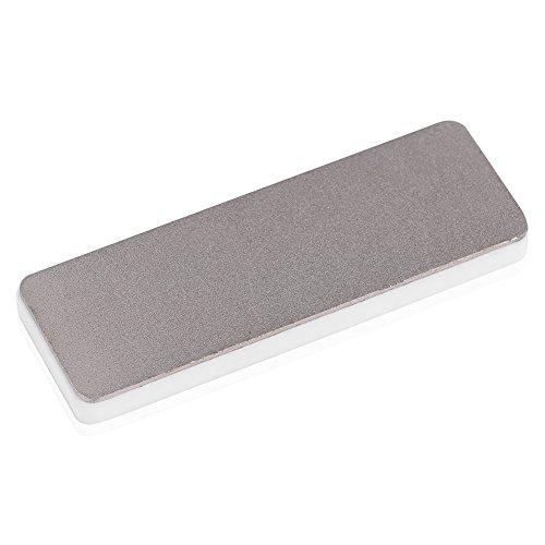 Mini herramienta de afilado de cuchillos de piedra de afilar de cerámica de piedra de afilar de diamante de doble cara para la cocina casera