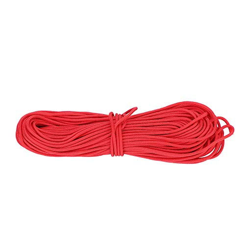 Keenso Bogensehne Schleife, 20m*2.4mm Compoundbogen Nylonschnur Bogensehne Seil Sichere Freigabe D-Schleife Bowstring Seil (rot)