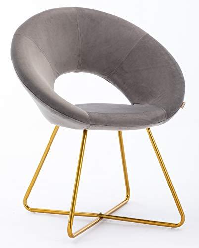 HNNHOME® Porto - Silla de comedor tapizada de terciopelo suave para el hogar, sala de estar, salón