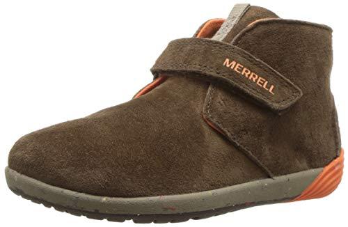 Merrell Kids' Unisex M-Bare Steps Boot Fashion Boot, Brown, 4 Medium US Toddler