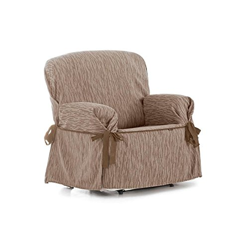 Eysa - Funda de sofá Universal Indico 3 plazas con Lazos - Color Crudo