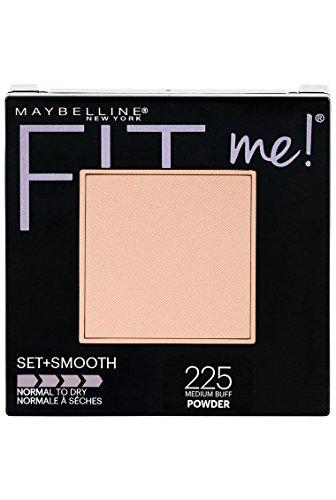 Maybelline New York Fit Me Set + Smooth Powder Makeup, Medium Buff, 0.3 oz.