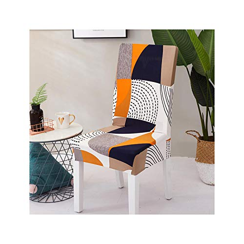 Cheryl Norri Blumendruckstuhl-Abdeckungen Spandex für Hochzeits-Esszimmer-Büro-Bankett-Ausdehnungs-elastische Stuhl-Bedeckung Colour7 Universalgröße