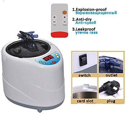 t/él/écommande Anti-d/éflagrante Smart Remote Control pour Une Utilisation personnelle /à la Maison ou /à lappartement Ginyia Sauna Steamer Prise europ/éenne Machine de Fumigation Portable de 2 L