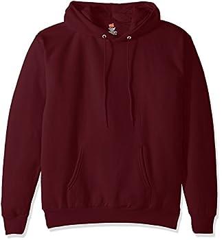 Hanes Men s Pullover EcoSmart Fleece Hooded Sweatshirt maroon Small