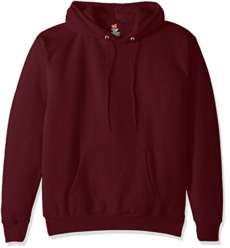Hanes Men's Pullover EcoSmart Fleece Hooded Sweatshirt, maroon, 2XL