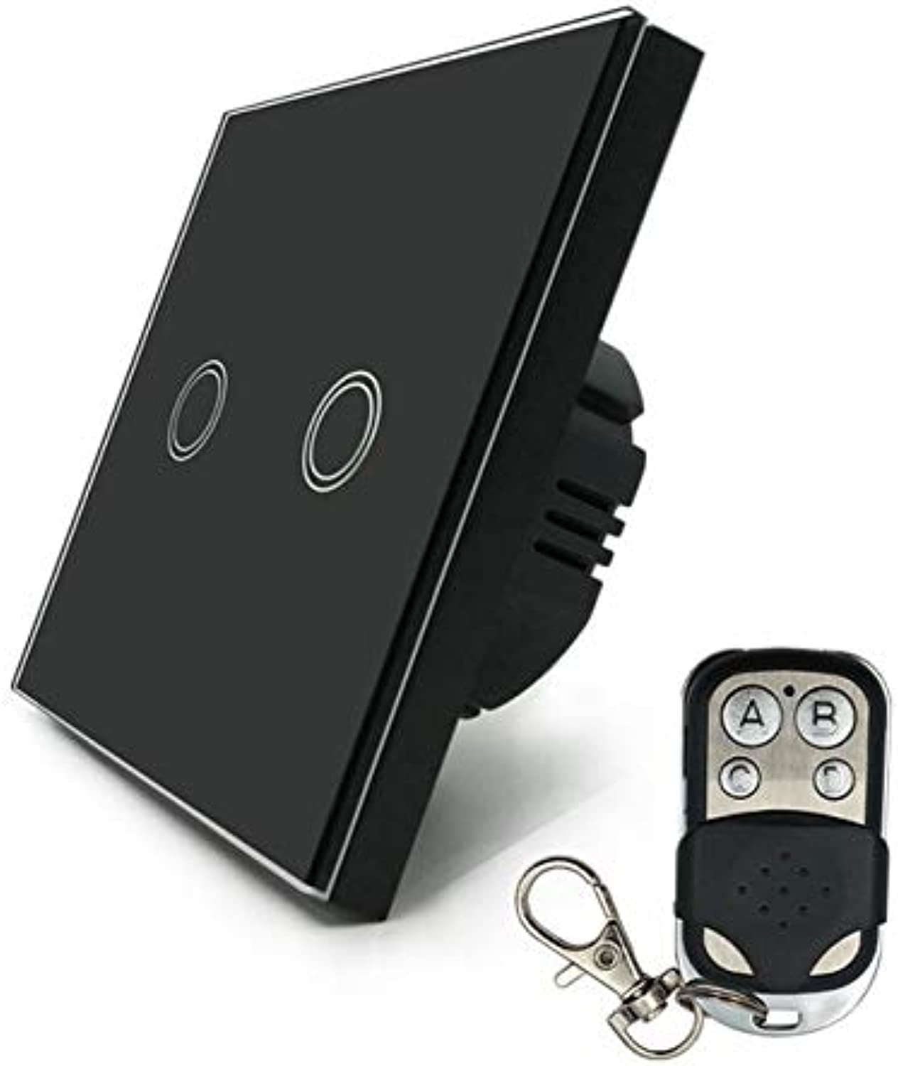Wall Touch Switch Remote Control Light Panel EU Wireless Sensor On Off 2 Gang RF433 240V Smart Controller  (color  NO2)