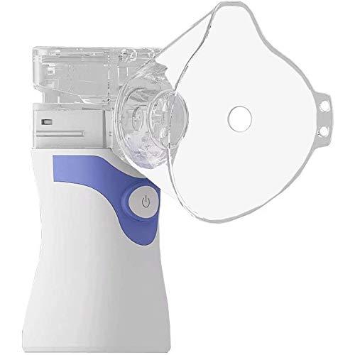 Portable Mini Nebulizer koele mist vaporizers voor volwassenen en kinderen, Nationale Handheld Mist Sprayer Mesh luchtbevochtiger nevelopwekkende Compressor met Masker,Blue