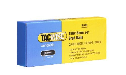 Tacwise 0394 18G Chiodi Senza Testa da 15 mm, Set di 5000 Pezzi