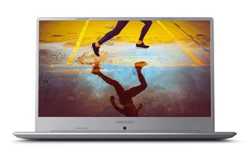 """MEDION Ultrafino S6445 - Ordenador portátil de 15.6"""" Full HD (Intel Core i5-8265u, RAM de 8 GB DDR4, SSD de 256 GB, Intel Graphics, Windows 10 Home) Plata"""