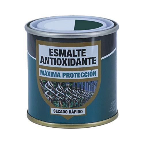 Esmalte Antioxidante Verde Carruaje, Máxima Protección y Decoración de Superficies de Acero, Hierro, Secado Rápido ( Verde Carruaje, 125 ml)