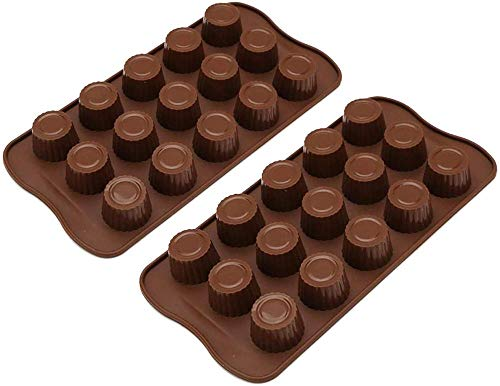 Bakvorm Muffin Cupcake Tins vormen chocolade zoete vormen 2-Pack siliconen chocolade vormen snoep mallen mal voor chocolade Keto vet bom en pinda boter