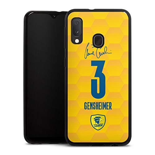 DeinDesign Silikon Hülle kompatibel mit Samsung Galaxy A20e Case schwarz Handyhülle Rhein-Neckar-Löwen Handball Gensheimer