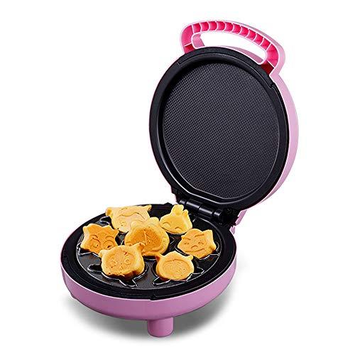 Gaone Animal Mini Wafflera 800W Eléctrica para 2 Rebanadas Waffle Hierro De Doble Cara Calefacción Antiadherente, Fácil De Usar Limpio, Hace 7 Diversión, Crepes Diferentes Shaped,220V