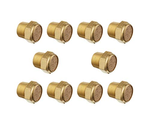 Brass Pneumatic Air Breather Vent Silencer Muffler Threaded 5 Size//Kit Wholesale