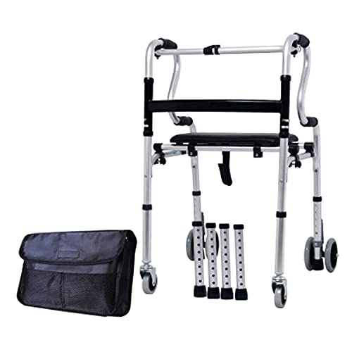 Andador Andadores para Ancianos Caminante Vertical de Pie Alto con Ruedas, Andador con Ruedas Portátil para Personas Mayores para Amputados Adultos, Ayuda de Paso de Aluminio Ajustable en Altura, 400